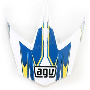 AGV White/Blue MTX Point Visor - KU0902019