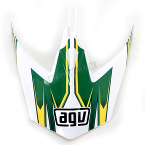 AGV White/Green MTX Point Visor - KU0902020