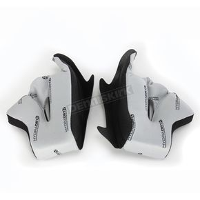 Icon Grey Hydra-Dry Airframe Cheek Pads - 20mm - 0134-1473