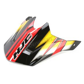 HJC Black/Yellow/White CL-X6 Spectrum MC-3 Replacement Visor - 0962-6019-03