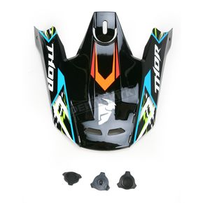 Thor Black Visor Kit for Thor Verge Helmets - 0132-0729