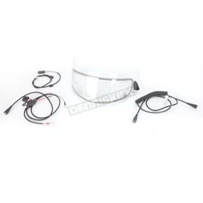 AFX AMPD Clear Electric Dual-Lens Snow Shield w/Cords for AFX FX-105 and FX-120 Helmets - 0130-0496