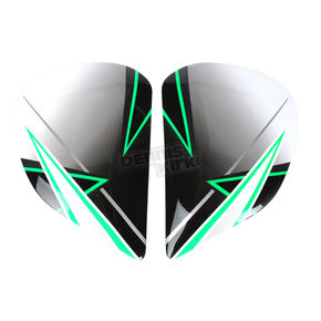 Arai Helmets Green Side Plates - 811003