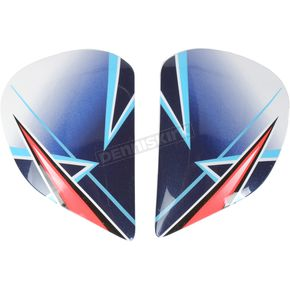 Arai Helmets Red Side Plates - 811004