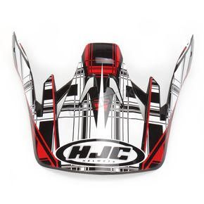 HJC Black/Red/White CS-MX Stagger Helmet Visor - 60-8137A