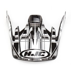 HJC Black/Silver/White CS-MX Stagger Helmet Visor - 312-959