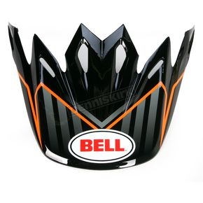 Bell Helmets Orange/Black/White Moto-9 Visor  - 8005610