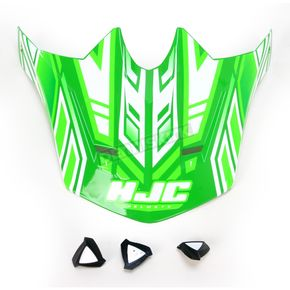 HJC Green/White MC-4 CL-X6 Fulcrum Helmet Visor - 0962-6017-04