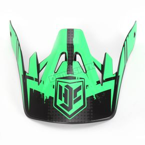 HJC Hi-Viz Neon Green/Black MC-4F Visor for CS-MX Helmets - 0970-6020-04