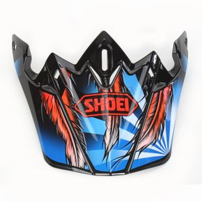 Shoei Helmets Black/Blue/Red VFX-W Grant 2 TC-1 Helmet Visor - 0245-6088-01