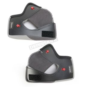 Bell Helmets Black Cheek Pad Set for Qualifier Helmets - 45mm - 8013366