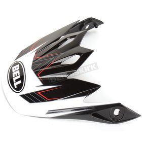 Bell Helmets Black/White Visor for MX-9 Blockade Helmet - 8031092