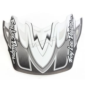 Troy Lee Designs Matte White/Gray/Black Starbreak Visor for Air Helmet - 153009100