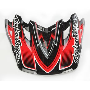 Troy Lee Designs Black/Red Starbreak Visor for Air Helmet - 153009200
