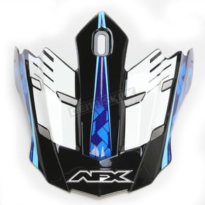AFX Pearl White/Blue/Light Blue FX-17 Factor Visor - 0132-0943