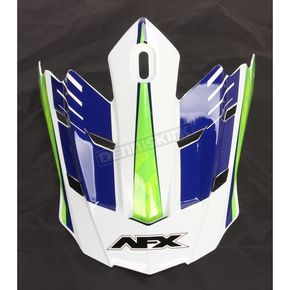 AFX White/Green/Blue FX-17 Factor Visor - 0132-0945