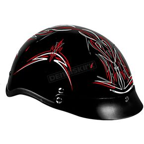 Hot Leathers Pinstripe Helmet - HL08173