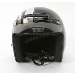 Z1R Jimmy Retro Black/Silver Helmet - Jimmy Retro