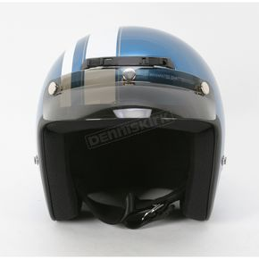 Z1R Jimmy Retro Pearl Blue/White Helmet - Jimmy Retro