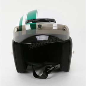 Z1R Jimmy Retro White/Green Helmet - Jimmy Retro