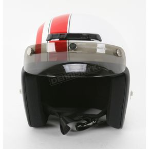 Z1R Jimmy Retro White/Red Helmet - Jimmy Retro