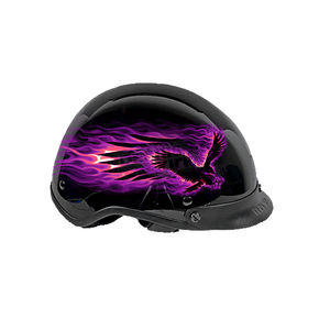 Hot Leathers Womens Flaming Eagle Helmet - HLD1007S