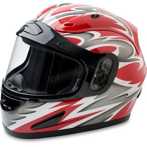 Mossi Black/Red Full Face Snow Helmet - 36-683R-13