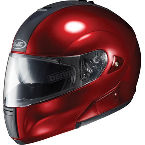 HJC IS-Max BT Metallic Wine Modular Helmet - 958-266