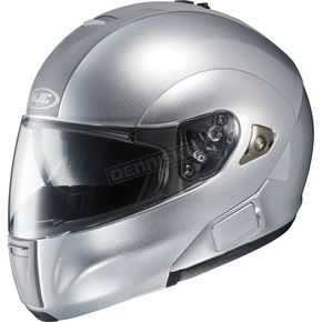 HJC IS-Max BT Metallic Silver Modular Helmet - 958-576