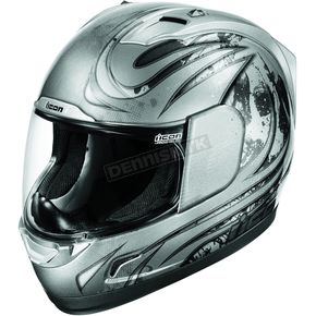 Icon Silver Alliance Threshold Helmet - 0101-5418