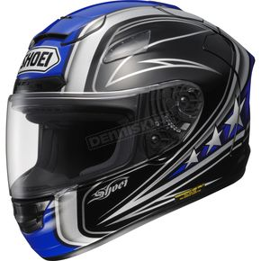 Shoei Helmets Black/Blue X-Twelve Streamliner Helmet - 0112-0802-04