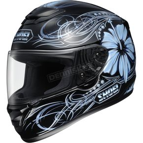 Shoei Helmets Qwest Goddess Black/Blue Helmet - 0115-3402-07