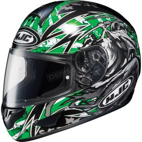 HJC BlackGreen CL-16 Slayer Helmet - 910-946
