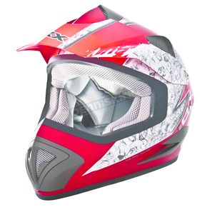 CKX Red/Silver TX-517 Ride Hard Helmet - 147332