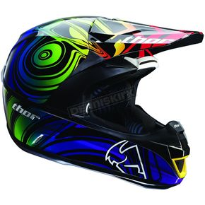 Thor Black/Purple/Green Force Ripple Helmet - 0110-2751