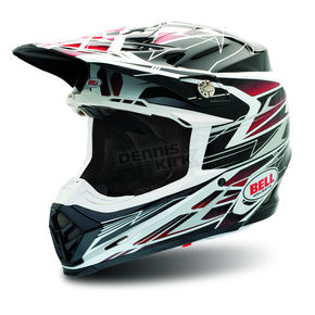 Bell Red Moto-9 Legacy Helmet - Convertible To Snow - 2021888