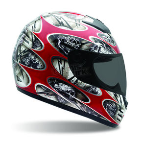 Bell Red Arrow Shocker Helmet - Convertible To Snow - ARROW