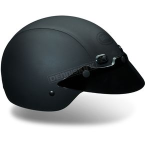 Bell Black Shorty Hide Half Helmet - 2010290