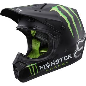 Fox V3 RC Monster Matte Helmet - 01207-255-XL