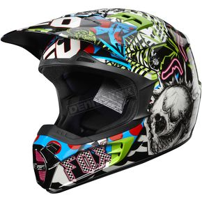 Fox Blue/Black V2 Pure Filth Helmet - 01263-023-2X