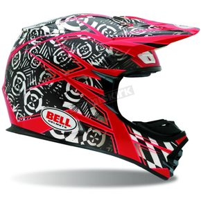 Bell MX-2 Red Vibe Helmet - Convertible To Snow - 2021919