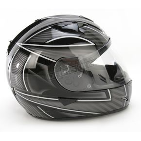 HJC IS-16 Black/White/Silver Ramper Helmet - 572-956