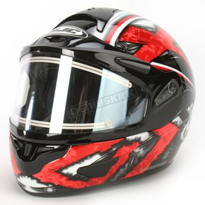 HJC Black/Dark Silver/Red CL-16SN Shock Helmet w/Electric Shield - 015-916