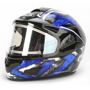 HJC Black/Dark Silver/Blue CL-16SN Shock Helmet w/Electric Shield - 015-926