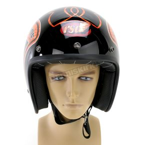 Bell Black/Orange Custom 500 Freedom Machine Helmet - 2033377