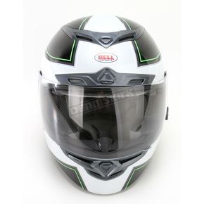Bell Helmets Black/Silver/Green RS-1 Stellar Helmet - Convertible To Snow - RS-1