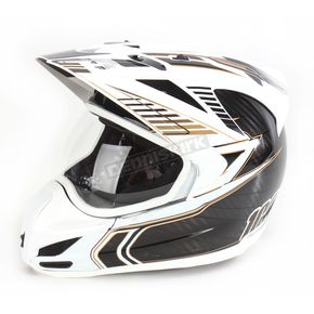 Icon White Carbon Cyclic Variant Helmet - 0101-6029
