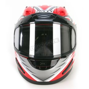 Mossi Red Full Face Helmet - 36683R15L