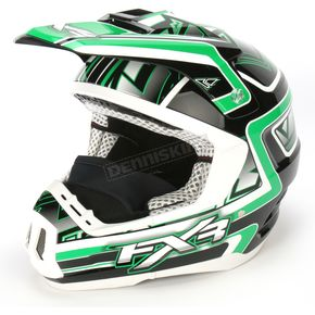 FXR Racing Green/Black Torque Helmet - 1340