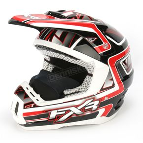 FXR Racing Red/Black Torque Helmet - 13405
